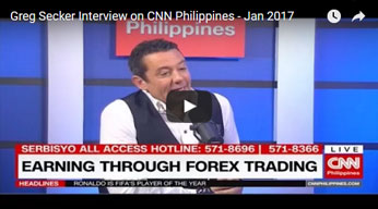Greg Secker Interview on CNN Philippines