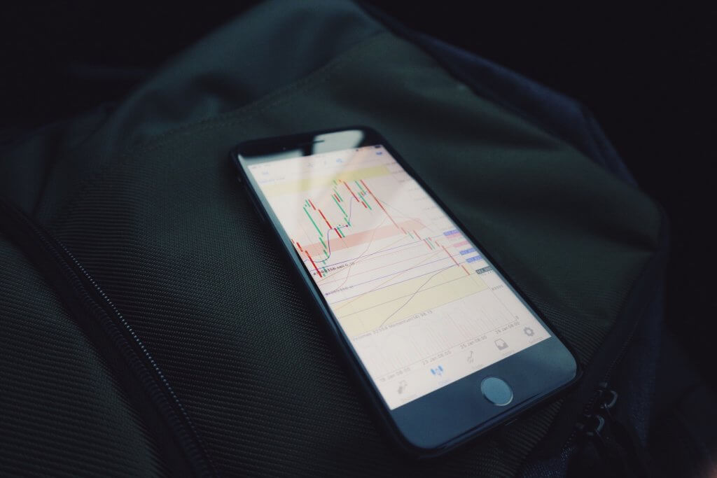 Forex charts on a smartphone